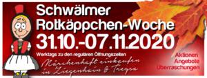 Märchenhaft shoppen in Schwalmstadt / Rotkäppchen-Woche startet am 31. Oktober 2020